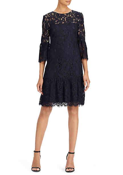 Lauren Ralph Lauren Kinga Lace Drop Waist Dress ...