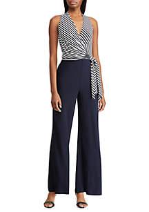 b0c13035002 Lauren Ralph Lauren Striped Jersey Jumpsuit