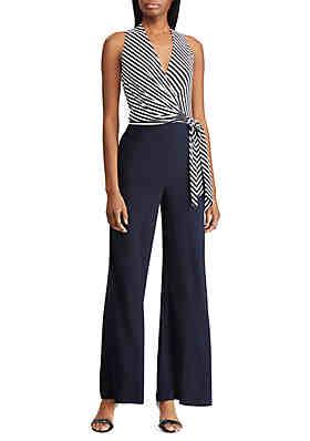 9b898e371572 Lauren Ralph Lauren Striped Jersey Jumpsuit ...