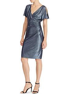 Featha Short Sleeve Glistening Knit Dress
