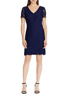 Gordy Scalloped Lace Dress