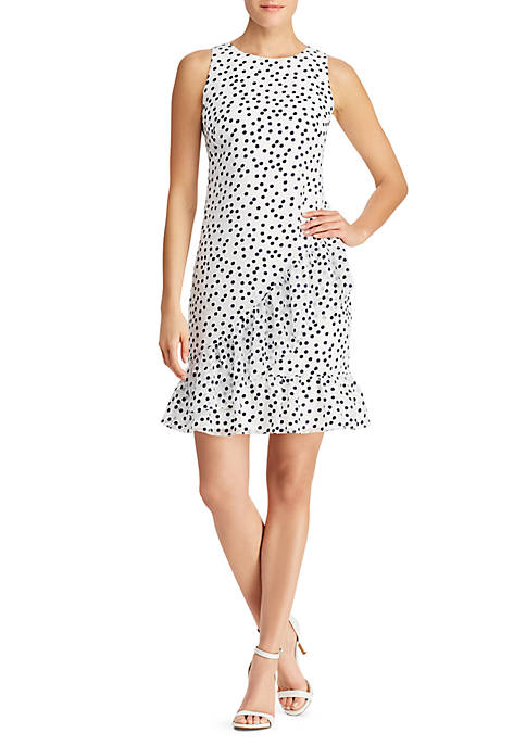 Lauren Ralph Lauren Sleeveless Burnout Dot Dress