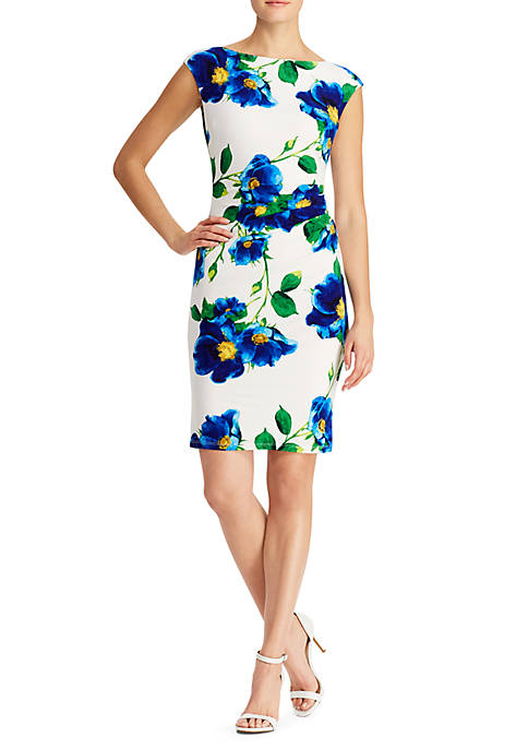 Lauren Ralph Lauren Cap Sleeve Floral Novellina Dress