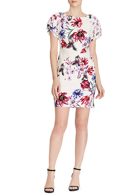 Lauren Ralph Lauren Short Sleeve Swansong Floral Dress