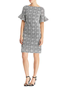 Short Sleeve Sigrid Sheath Dress