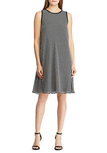 Petie Sleeveless Marby Wembly Houndstooth Dress