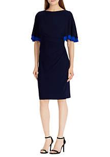 Three-Quarter 2-Tone Sleeve Kiani Dress