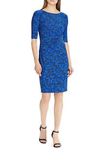 Three-Quarter Sleeve Titus Jilly Floral Dress