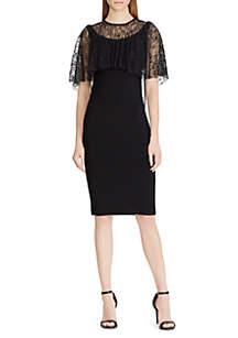 Willary Lace-Overlay Jersey Dress