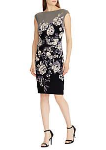 Short Sleeve Novellina Westlynn Floral Fitted Dress