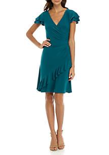 Jersey Ruffle Dress