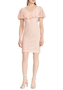 Floral Ruffled Lace Dress