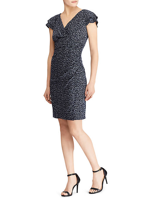 Lauren Ralph Lauren Brisa Falling Water Abstract Dress