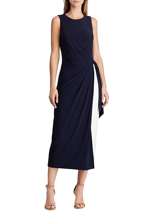 Lauren Ralph Lauren Two Tone Jersey Dress