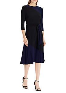 Two-Tone Jersey Dress\tBold