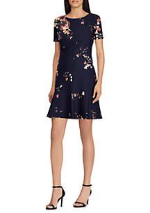 Short Sleeve Darris Villa Martin Floral Flounce Dress