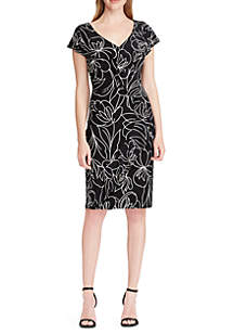 Short Sleeve Samson Baise Floral Dress
