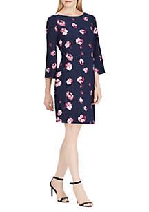 Floral Jersey Shift Dress