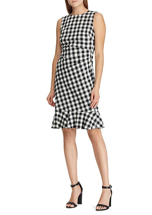 Lauren Ralph Lauren Gingham Jacquard Dress