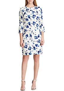 Lauren Ralph Lauren Lace-Trim Floral Dress