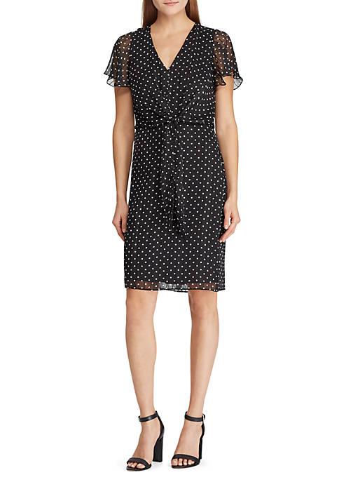 Lauren Ralph Lauren Knotted Print Jacquard Dress