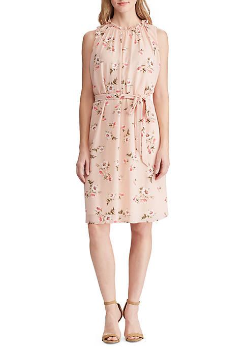 Lauren Ralph Lauren Floral-Print Crepe Sleeveless