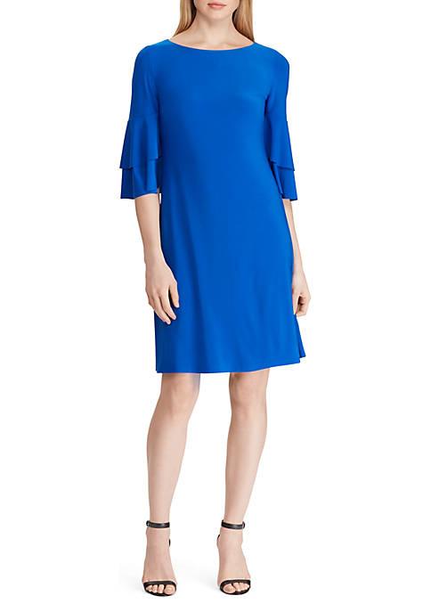 Lauren Ralph Lauren Jersey Ruffle-Sleeve Dress