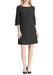 Lauren Ralph Lauren Ruffle Sleeve Jersey Dress