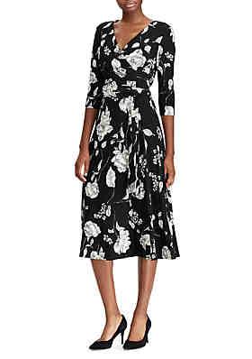 7510e4c3b02d1 Lauren Ralph Lauren Belted Floral Jersey Dress ...