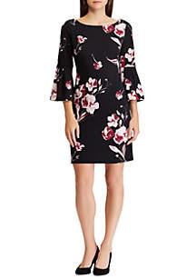 Floral Print Bell Sleeve Dress