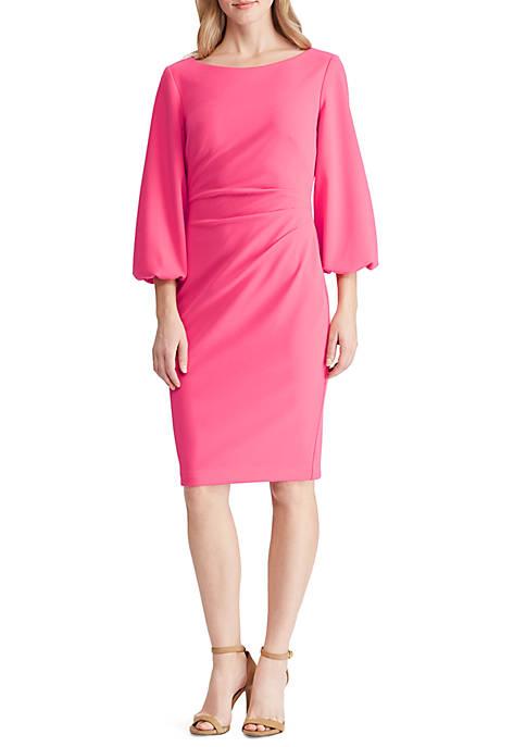 Lauren Ralph Lauren Ruched Crepe Dress
