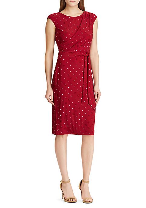 Lauren Ralph Lauren Polka Dot Jersey Dress