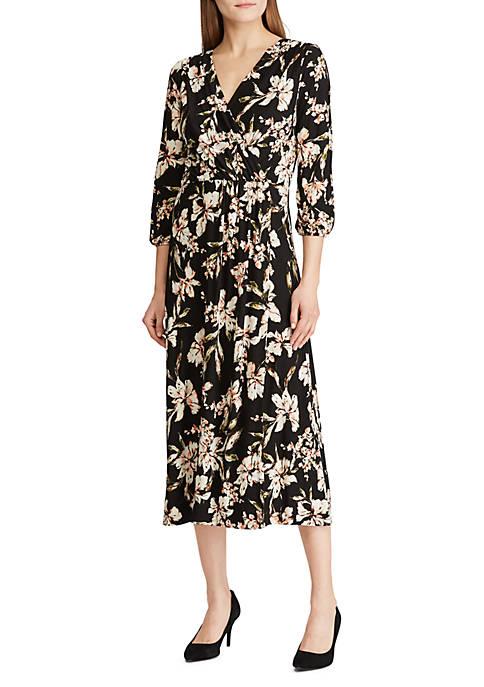 Lauren Ralph Lauren Floral Jersey Midi Dress