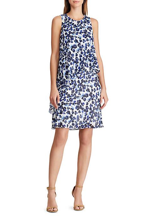 Lauren Ralph Lauren Floral Georgette Shift Dress