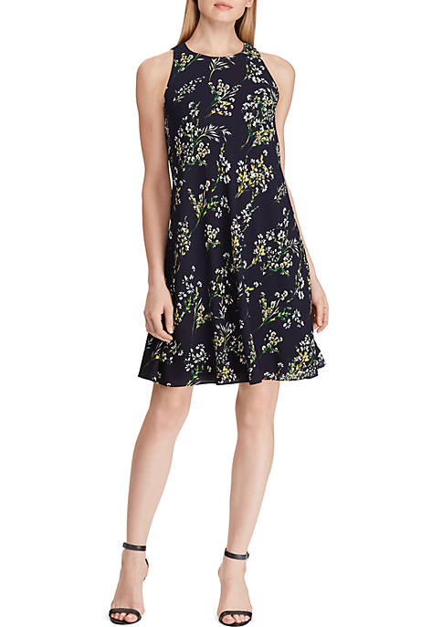 Lauren Ralph Lauren Floral Crepe A-Line Dress