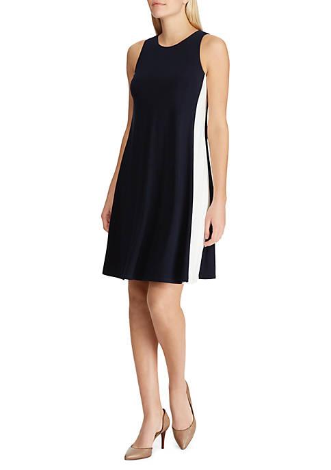 Lauren Ralph Lauren Two-Tone Jersey Dress