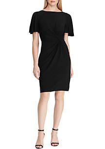 Lauren Ralph Lauren Twisted-Knot Jersey Dress