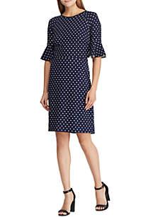 cc7b1cdc4e0 Crown   Ivy™ Sleeveless Ruffle Neck Print Dress · Lauren Ralph Lauren Print  Crepe Flutter-Sleeve Dress