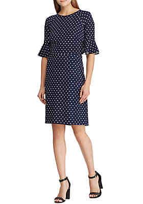 c4c6de40bb3 Lauren Ralph Lauren Print Crepe Flutter-Sleeve Dress ...