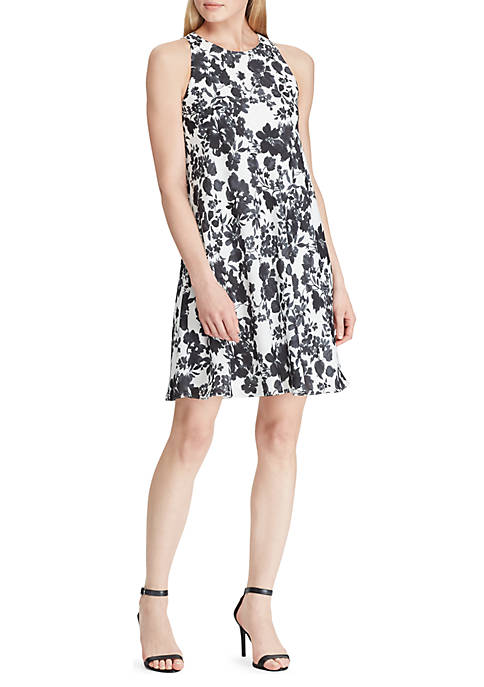 Lauren Ralph Lauren Floral Georgette A-Line Dress