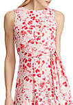 Floral Twisted Jersey Dress