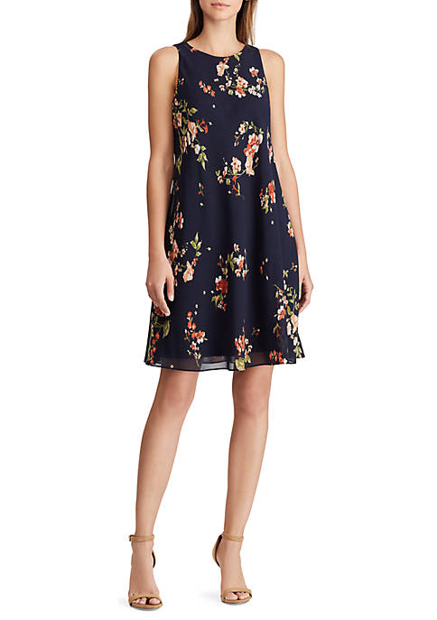 Lauren Ralph Lauren Floral Georgette A Line Dress