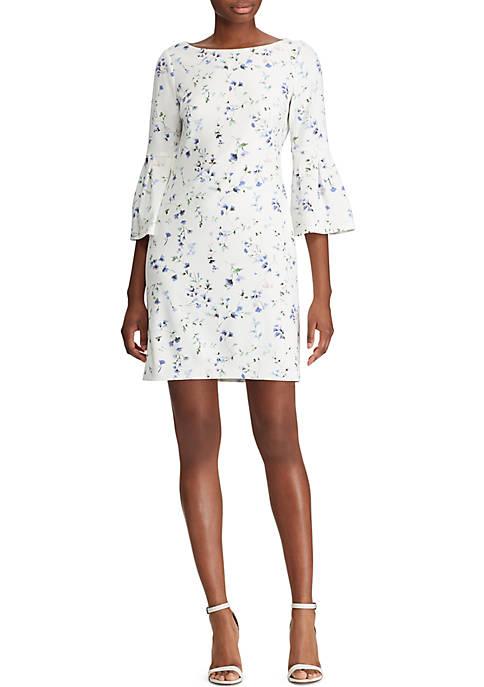 Floral Bell-Sleeve Dress