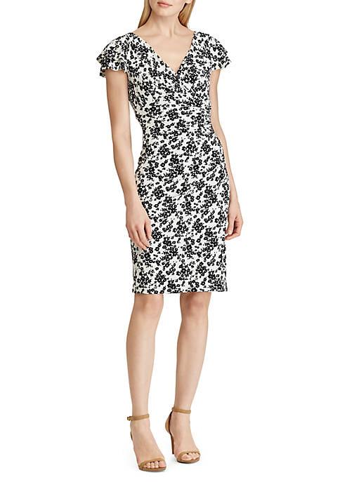 Lauren Ralph Lauren Flutter Cap Sleeve Dress