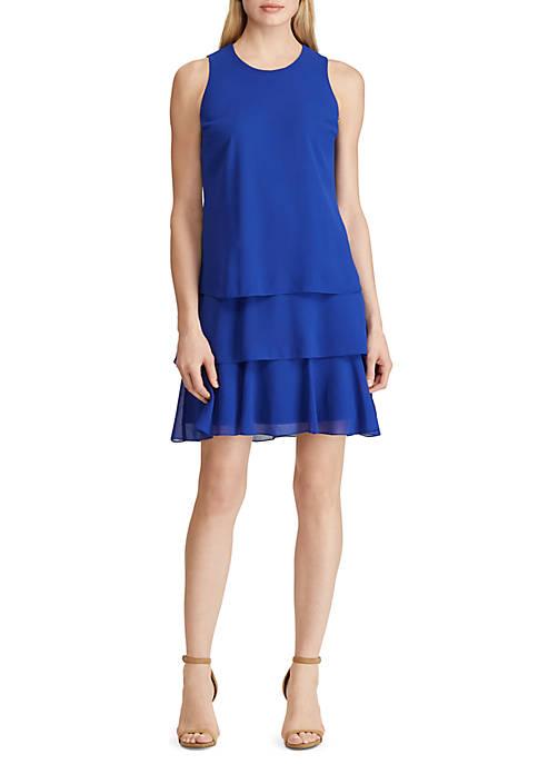 Tiered Ruffle Georgette Dress