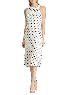 Lauren Ralph Lauren Polka Dot Sleeveless Dress