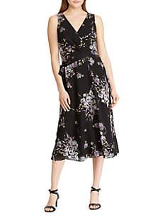 Lauren Ralph Lauren Floral Georgette Midi Dress