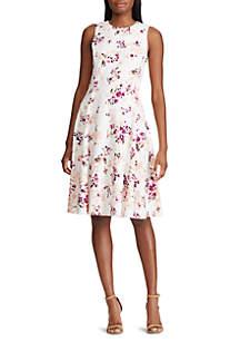 Lauren Ralph Lauren Floral Crepe Fit and Flare Dress