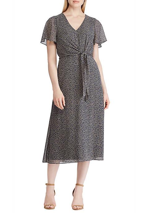 Lauren Ralph Lauren Georgette Midi Dress