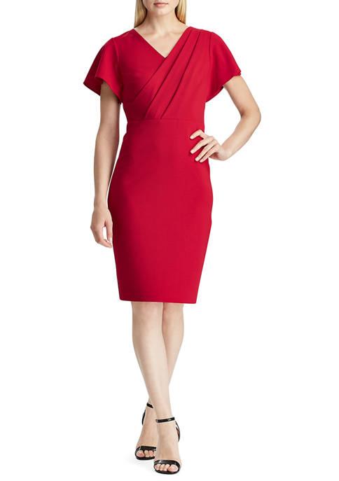 Lauren Ralph Lauren Crepe Short Sleeve Dress